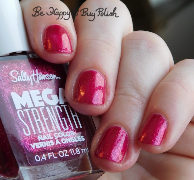 Sally Hansen Mega Strength Sorry Not Sorry close up | Be Happy And Buy Polish