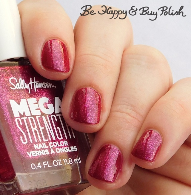 Sally Hansen Mega Strength Sorry Not Sorry over New Atti-hue | Be Happy And Buy Polish