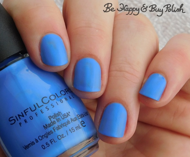 Sinful Colors Sinful Mattes Blue Me Away | Be Happy And Buy Polish