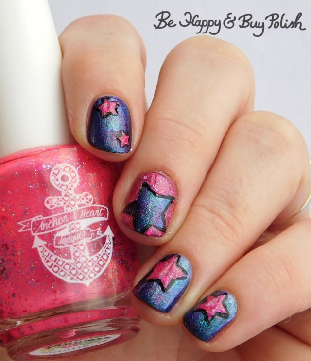 Anchor & Heart Lacquer Summer Princess, Quixotic Polish Luciole star manicure | Be Happy And Buy Polish