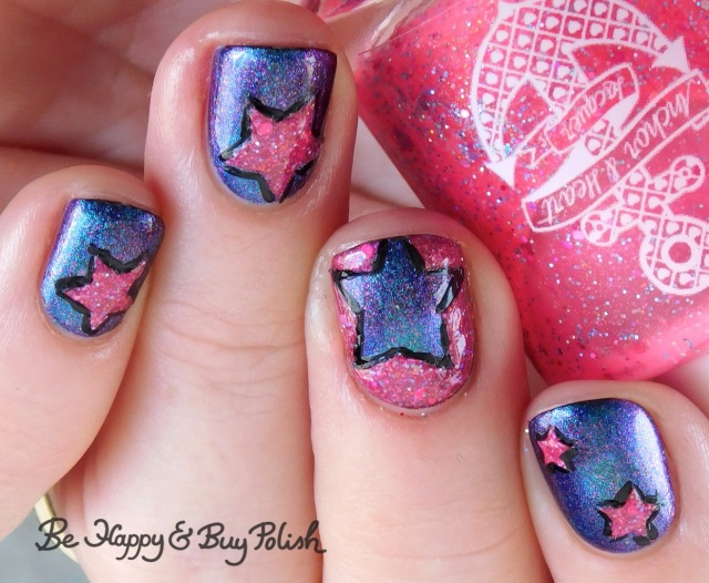 Quixotic Polish Luciole, Anchor & Heart Lacquer Summer Princess star manicure | Be Happy And Buy Polish