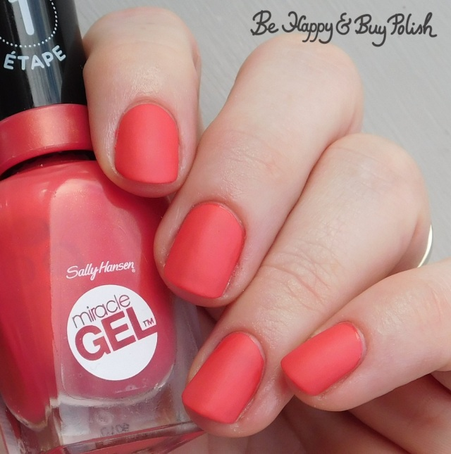 Sally Hansen Miracle Gel Apollo You Anywhere with Sally Hansen Matte Top Coat | Be Happy And Buy Polish