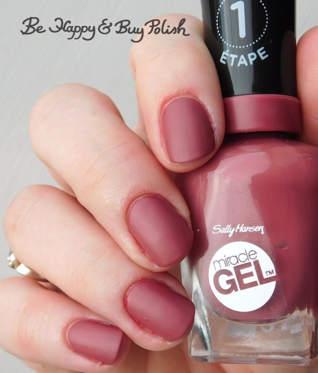 Sally Hansen Miracle Gel Beet, Pray, Love with Sally Hansen Matte Top Coat | Be Happy And Buy Polish