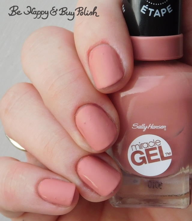 Sally Hansen Miracle Gel Mauve-olous with Sally Hansen Matte Top Coat | Be Happy And Buy Polish