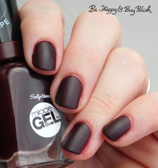 Sally Hansen Miracle Gel Wine Stock with Sally Hansen Matte Top Coat