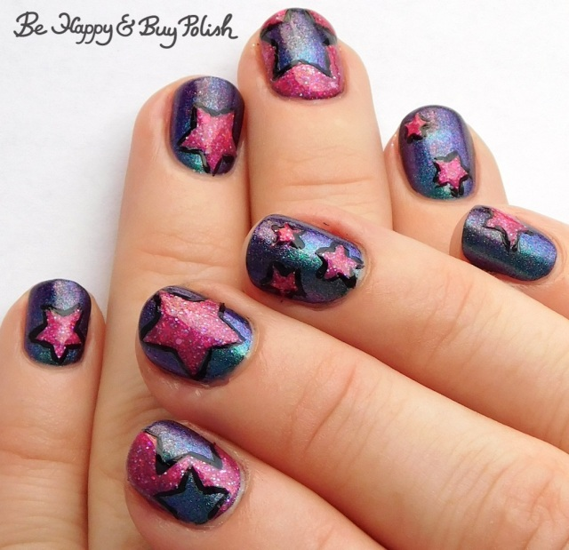 star manicure with Anchor & Heart Lacquer, Quixotic Polish | Be Happy And Buy Polish