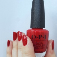 OPI Red-y for the Holidays nail swatch